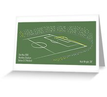 Goals in Motion: N Wright v Bolton 1999 Greeting Card