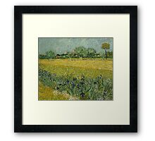 Vincent Van Gogh - Field With Flowers Near Arles 1888 Framed Print