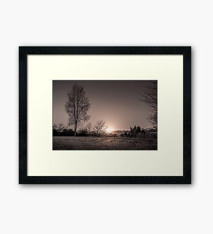Lovers Bench Framed Print