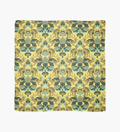 yellow damask cats Scarf
