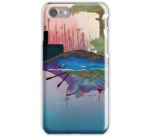 Whale Earth Painting iPhone Case/Skin