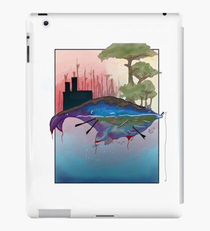 Whale Earth Painting iPad Case/Skin