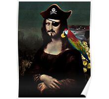 Mona Lisa Pirate Captain Poster