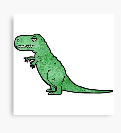cartoon tyrannosaurus rex Canvas Print