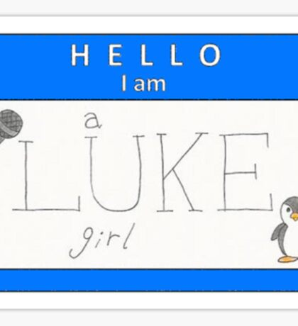 luke girl name tag (horizontal) Sticker