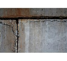 Concrete Blocks Photographic Print