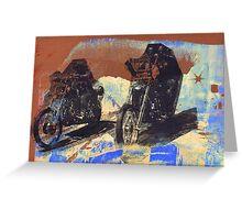 easy rider silkscreen brown Greeting Card