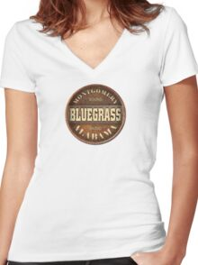 Montgomery Bluegrass Alabama Women's Fitted V-Neck T-Shirt