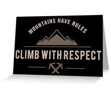 Rock Climbing Greeting Card