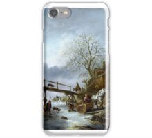 A Winter Scene - Isack van Ostade iPhone Case/Skin