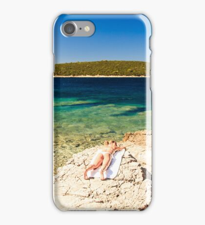 Girl at the sea in Croatia iPhone Case/Skin