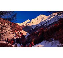 colorful sunset in the Valle Aurina Photographic Print
