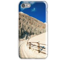 autumn sunrinse in the valley iPhone Case/Skin