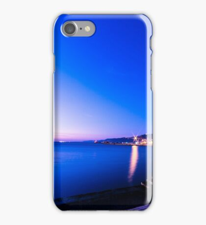 sunset in front of the city of Trieste iPhone Case/Skin