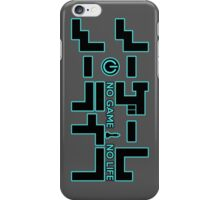 No Game No Life Logo ~ Turquoise Accent iPhone Case/Skin