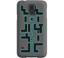 No Game No Life Logo ~ Turquoise Accent Samsung Galaxy Case/Skin