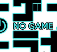 No Game No Life Logo ~ Turquoise Accent Sticker