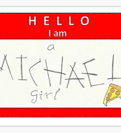 michael girl name tag (horizontal)  Sticker