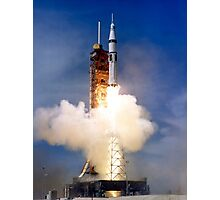 Liftoff of the Saturn IB launch vehicle. Photographic Print