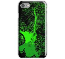 Green trees on black iPhone Case/Skin