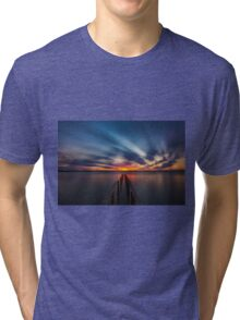 Cleveland Point Sunset Tri-blend T-Shirt