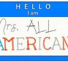 Mrs all american name tag (horizontal) by o-my-morgan