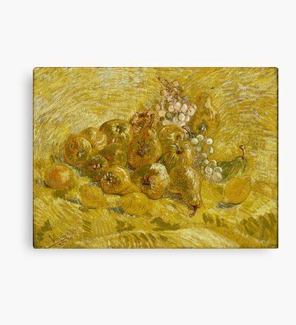 Vincent Van Gogh - Quinces, Lemons, Pears And Grapes 1887 Canvas Print