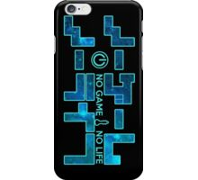 No Game No Life Logo ~ Turquoise Galay iPhone Case/Skin