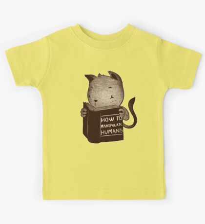 Cat Book How To Manipulate Humans Kids Tee