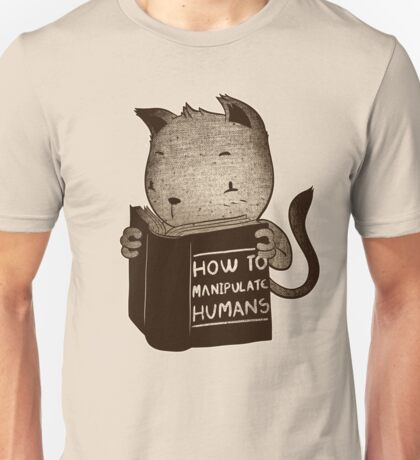 Cat Book How To Manipulate Humans Unisex T-Shirt