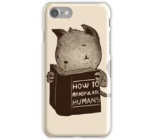 Cat Book How To Manipulate Humans iPhone Case/Skin