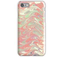 marbled wave red green iPhone Case/Skin