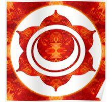 Exploding Sensuality Abstract Chakra Art  Poster