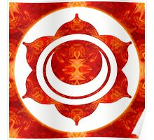 Exploding Sensuality Abstract Chakra Art  Poster