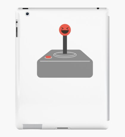 Retro Vintage Gamer Joystick Pun I am So Happy I Could Die OMG Funny Sarcastic Graphic Tee Shirt iPad Case/Skin