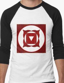 Go Deep Abstract Chakra Art  Men's Baseball ¾ T-Shirt