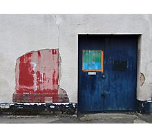 Blue Door / Red Wall Photographic Print