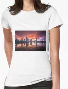 Burning Skies Womens Fitted T-Shirt