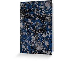 dark marbled dots blue black Greeting Card