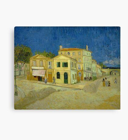 Vincent Van Gogh - The Yellow House 1888 Canvas Print