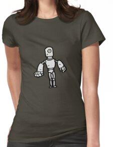 cartoon robot Womens Fitted T-Shirt