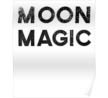 Moon Magic Hipster Style Graphic Tee Shirt Poster