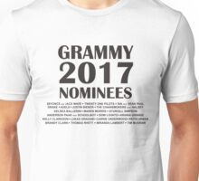 Grammy Nominees 2017 Unisex T-Shirt