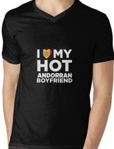 I Love My Hot Andorran Boyfriend Mens V-Neck T-Shirt