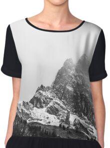Black & White Mountains Chiffon Top