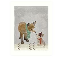 hello mr fox Art Print