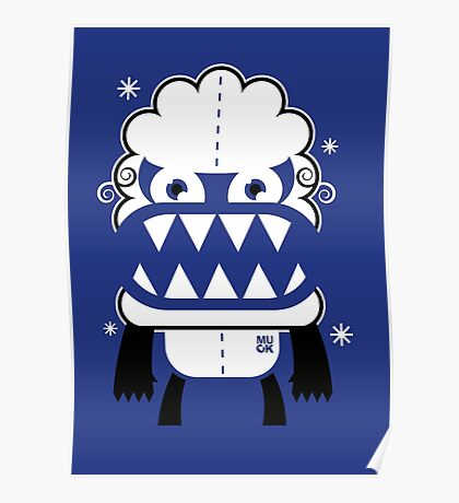Monster by MUCK. Crypto Zoo. Yeti Poster