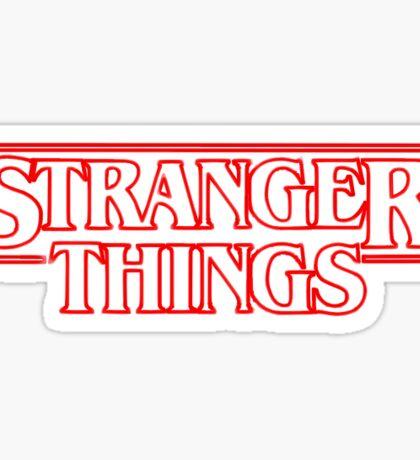 Stranger Things Title Sticker Sticker