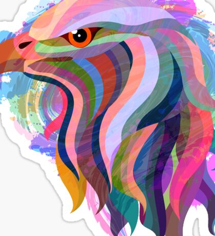 Abstract Eagle Sticker