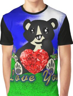 Cuty bear gives his love Graphic T-Shirt